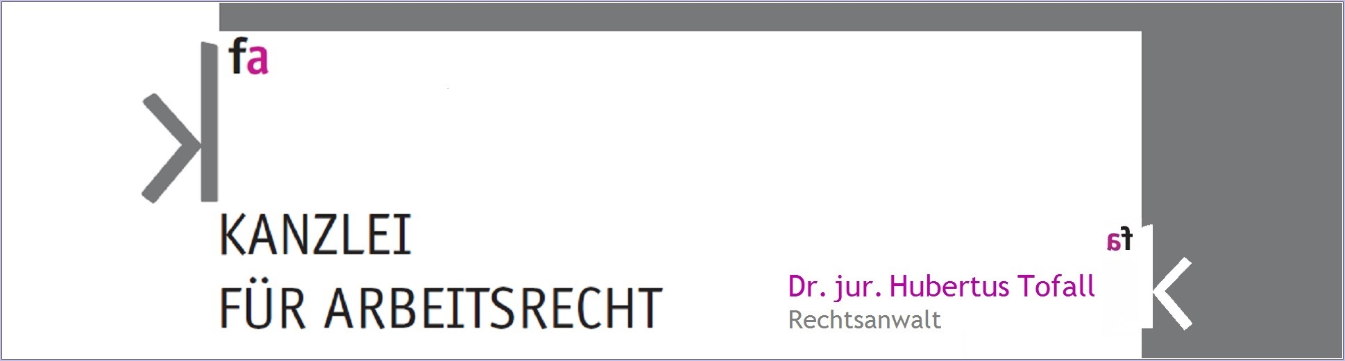 Kanzlei für Arbeitsrecht – Dr. Hubertus Tofall
